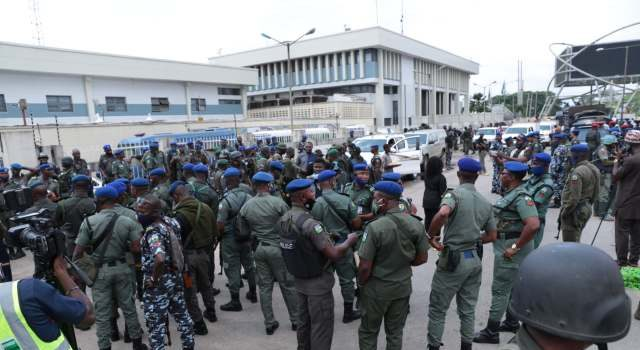 Security operatives take over INEC office as election commences