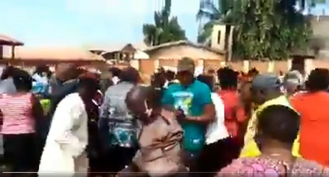 Video shows voters scampering for money from party chieftain