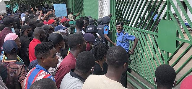 EndSARS protesters at NASS