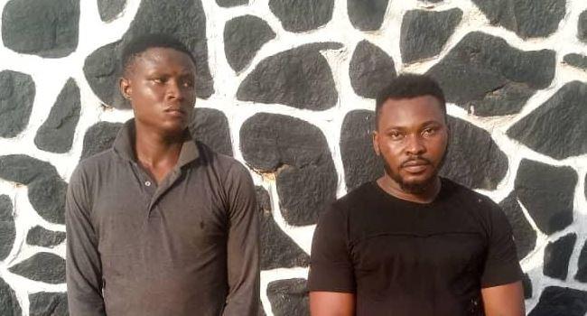 Police arrests two men for allegedly gang-r*ping 19-year-old girl in Ogun