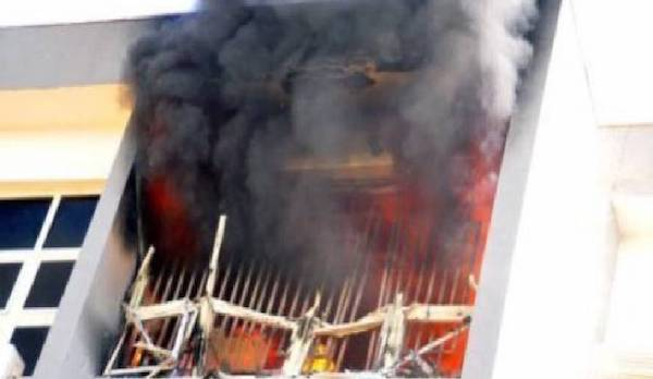 Nigeria Immigration Service Headquarters In Abuja Gut by Fire - Tatahfonewsarena