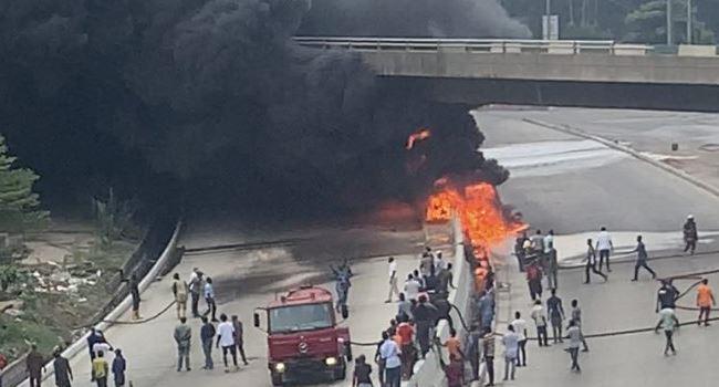 Lagos govt. shutdown Airport bridge after tanker explosion