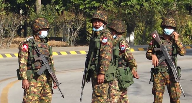 Myanmar military orders raid of leader Suu Kyi's party headquarters