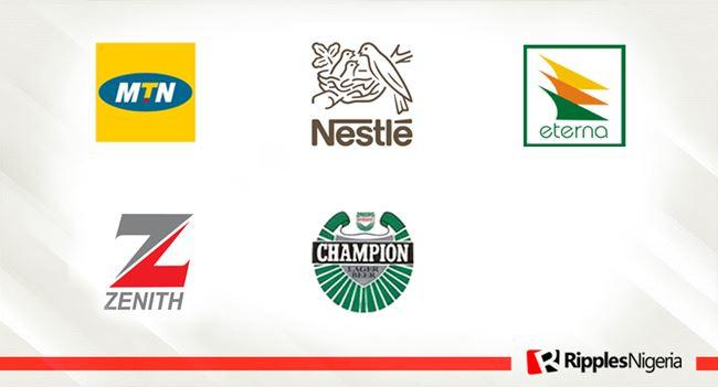 MTN Nigeria, Nestle, Eterna oil, Zenith Bank, Champion Brew make Ripples Nigeria stocks-to-watch list