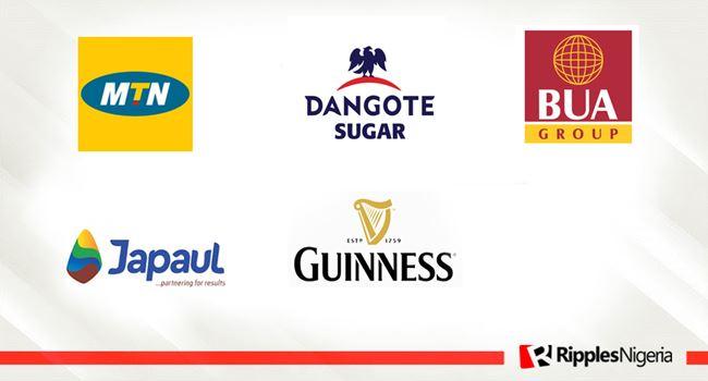 MTN Nigeria, Dangote Sugar, BUA Cement, Japaul Gold, Guinness make Ripples Nigeria stocks-to-watch list