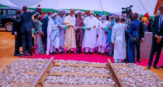 Buhari lays foundation stone for $1.2bn Kano-Kaduna rail project
