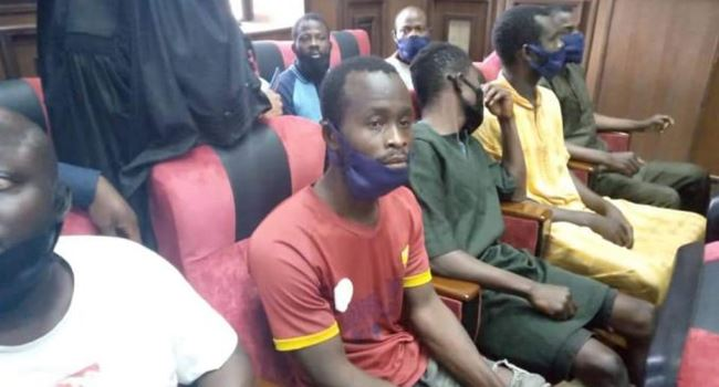 DSS produces 8 of 12 detained Igboho's aides in court