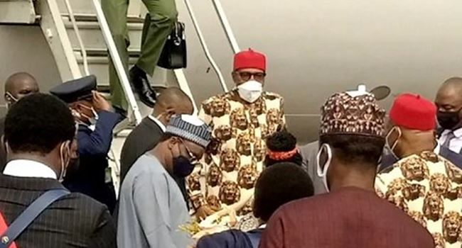 JUST IN: Buhari arrives Imo State