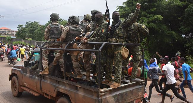 Guineans celebrate as soldiers seize power