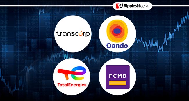 Two oil firms, a bank and Transcorp make Ripples Nigeria stocks-to-watch list